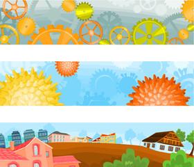 Set of a header background F