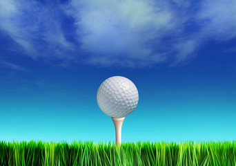 tee and golf-ball