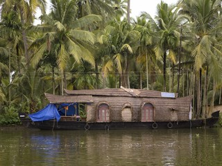 Houseboat, Kerala Backwaters, Alleppey, Kerala, India