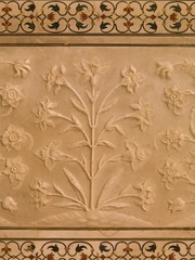 Detail, Taj Mahal, Agra, Uttar Pradesh, India