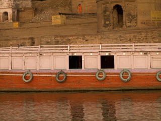 Boat On The River Ganges, Varanasi, Uttar Pradesh, India