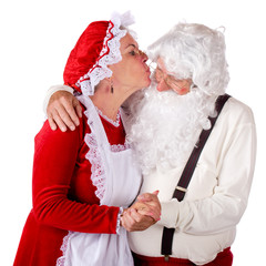 Mrs. Kissing Santa Claus