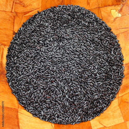 Black Purple Rice Round Square