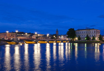 Night scene of the Stockholm City