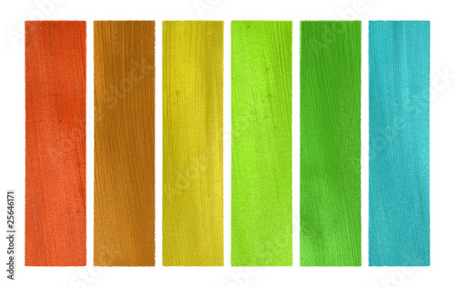 Summer and wood tones coconut paper banner set