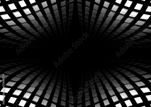 Fototapeta  Metal shiny vector space dock
