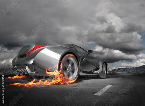 wypalenie-samochodu-sportowego-oryginalny-projekt-samochodu