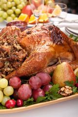 holiday roasted stuffed turkey