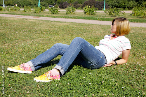 Woman relaxing