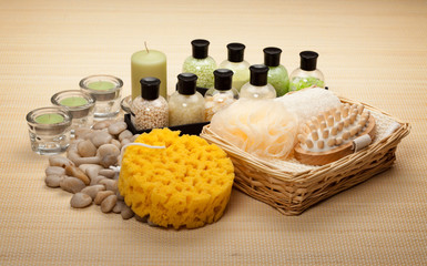 Bath salt sponge and massage tools