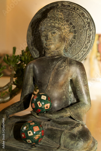 Buddha with meditation balls