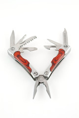 Multitool isolated on a white background