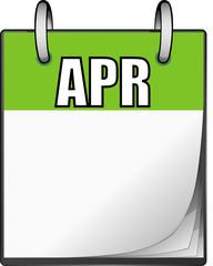 Calendario, mese di Aprile