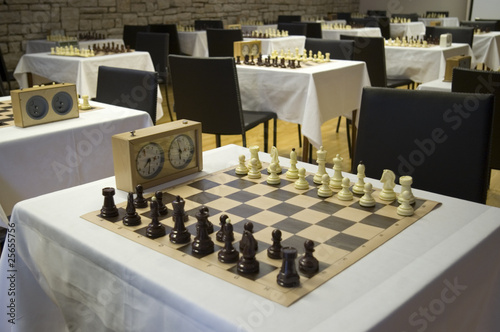 Room for chess competition