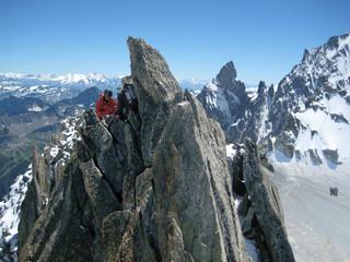 Climbers near the summit