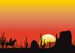 monument valley sunset landscape - 25656564