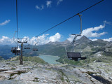 chair ski lift in summer
