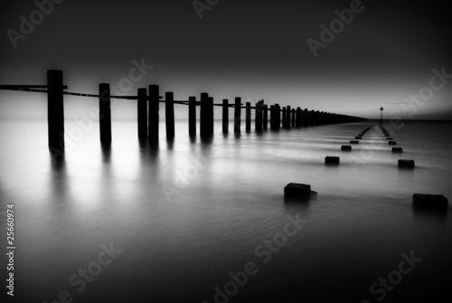 Border of Thames and North Sea in Shoeburyness