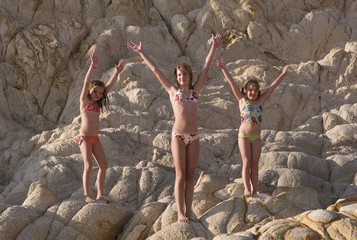 Children In Bathing Suits, Los Cabos, Mexico