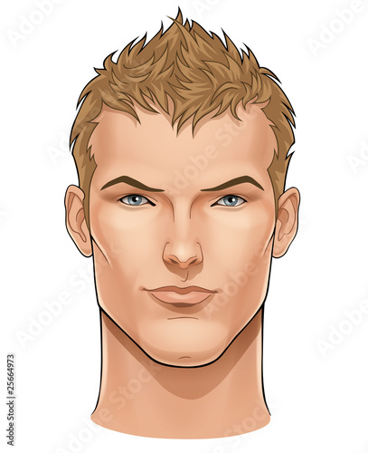 Face of young man