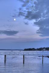 Dusk at Clark Point, Southwest Harbor, Mt. Desert Island, Maine