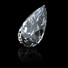 Gemstome shape of pear