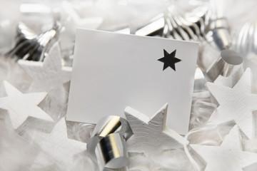 Weiße Weihnachtskarte
