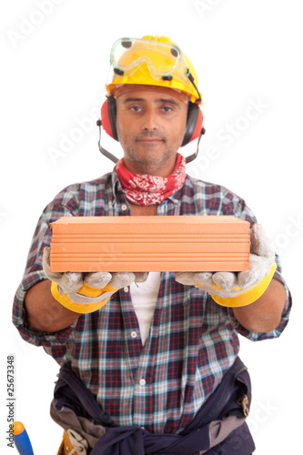 Construction worker offering services