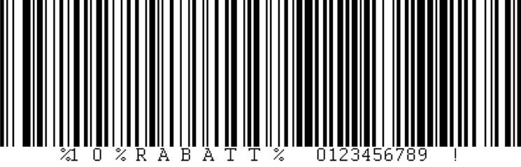 10% RABATT Barcode