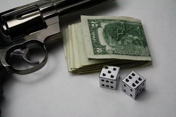 street craps gambling with a gun