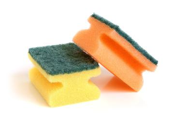 Multicolored sponges