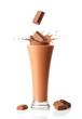 Leinwandbild Motiv Chocolate Milkshake Smoothie