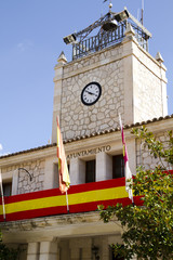 Typical facade of City Hall, Spain