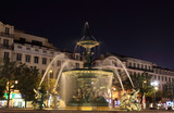 Fountain at Rossio Square in Lisbon, Portugal