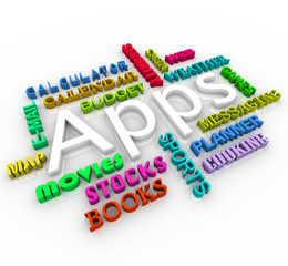 Apps - Smart Phone Application Word Collage