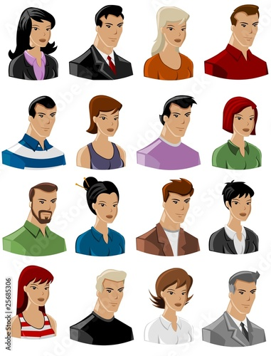 set of vector peoples icons