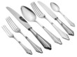 Old Silverware Set (Clipping Path)