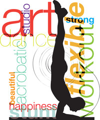Acrobatic man illustration