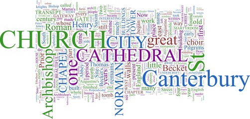 Word Cloud based Around Canterbury, UK