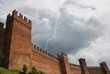 gradara' s castle into the storm