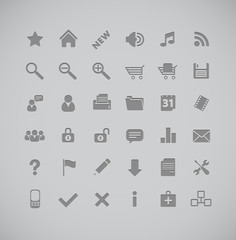 gray icons series