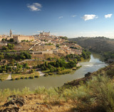 Fototapeta panoramic view of Toledo in Spain