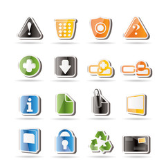 Simple Web site and computer Icons - Vector Icon Set