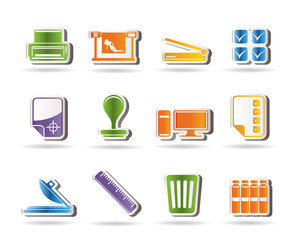 Print industry Icons - Vector icon set
