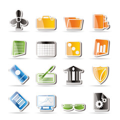 Simple Business and Office Icons - Vector Icon Set 2