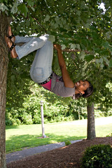 Woman Hanging from a Tree