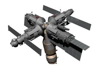 Космическая орбитальная станция Мир.
