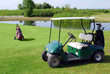 golf buggy and golf bag