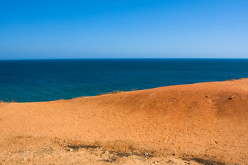 Beautiful landscape with the seaside, Algarve Portugal