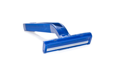 Disposable razor isolated over white